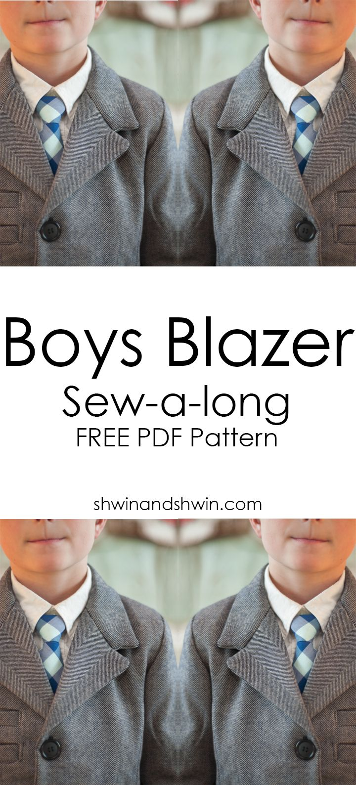 Boys Blazer Sew-a-long Fabric and Pattern choices || schwinandschwin.com