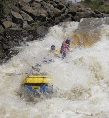Outrageous Adventures - River Rafting. The very best white-water rafting in SA on the Ash River near Clarens. Exciting grade 4 rapids in big six-man rafts makes for the ultimate in fun and adventure. Come get your adrenaline-rush!