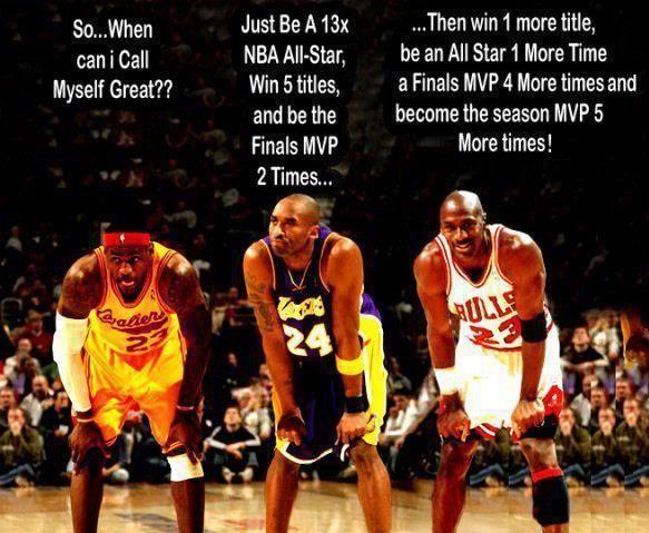 Air Jordan vs. Kobe vs. King James: Just the stats