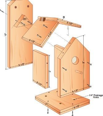 25 Unique Bird House Plans Ideas On Pinterest Cabane