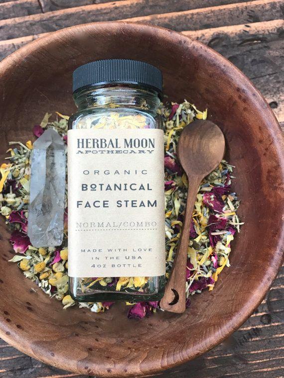 Botanique visage vapeur • cosmétiques Bio • douce et clarifier les enjeux • toutes les peau types • végétalienne, sans cruauté gratuite • 4oz bouteille en verre