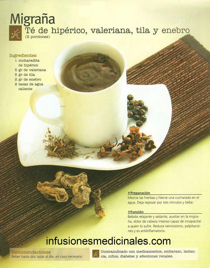 Conoce recetas de infusiones, tés y otros remedios naturales para combatir la migraña.