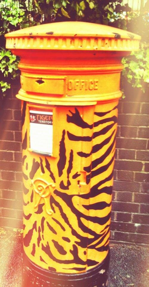 A ferocious post box at London Zoo