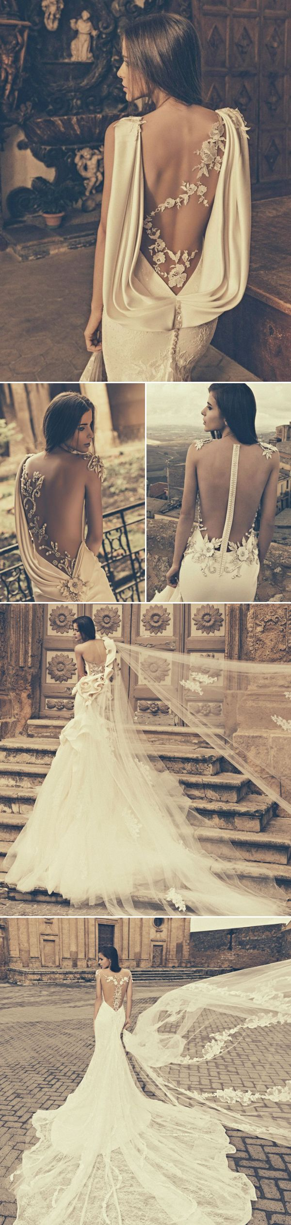 27 Wedding Dresses with Stunning Back Details from 2015 Bridal Market - Julia Kontogruni.