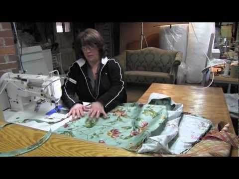 How To Make Cushion Cover for Sofa or Chair (Nice video, notice she uses a cording foot. some parts are pre done for the video)