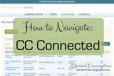 The BENT Kitchen: How To Navigate CC Connected (and Organize Your Fi...