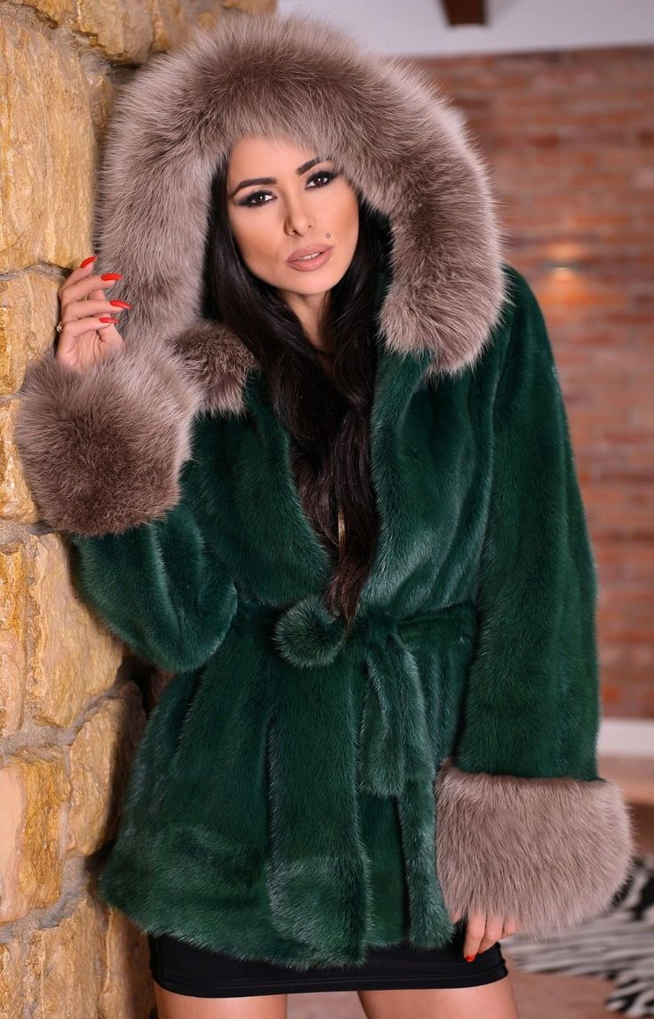 MINK FUR LONG JACKET WITH HOOD. & FOX FUR ON THE HOOD AND CUFFS. SUPERIOR SAGA MINK. NEW WITH INSIDE LABEL. SUPERIOR SAGA MINK ! IS ONE OF THIS FUR THAT WE DO NOT HAVE TO RECOMMEND. ON THE MARKET. | eBay!