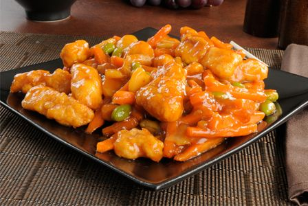 Crock Pot Orange Chicken - 4 boneless, skinless chicken breasts. 1/3 cup flour. 3 tablespoons olive oil. 6 ounces (1/2 can) frozen orange juice concentrate, thawed. 4 tablespoons ketchup. 2 tablespoons brown sugar. 1 tablespoon balsamic vinegar. 1 tablespoon soy sauce.