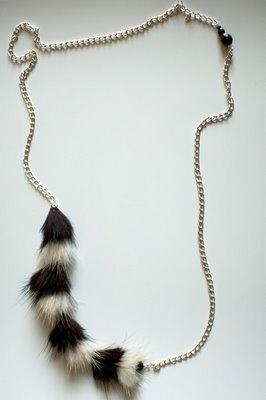 Recycled Fur Necklace by Sara Lagacé