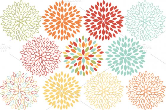 Blooming Blossom Vector Flowers by SonyaDeHart