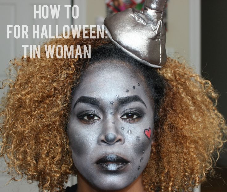 Easy Tin Woman Halloween Makeup Tutorial-  in 30 Minutes