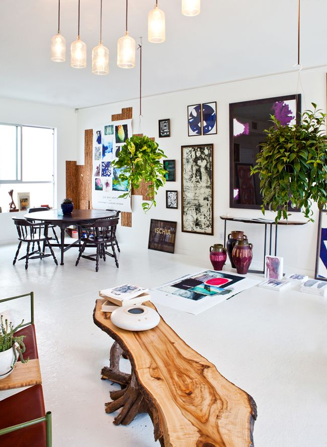 table: Modern House Design, Modern Home Design, Wooden Benches, Scandinavian Interiors, Hanging Plants, Interiors Design, Coff Tables, Wooden Tables, Logs Benches