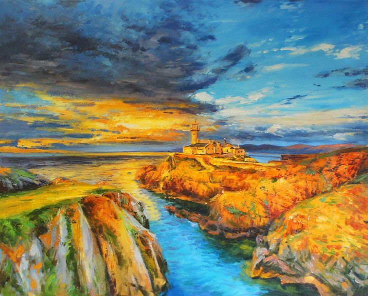 Sunset At Fanad Lighthouse by Conor Mcguire on ArtClick.ie Ireland Landscape Art