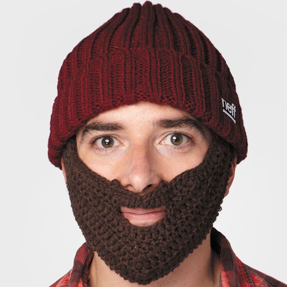 Neff Lumberjack Knit Hat with Removable Beard..if you can't grow one...buy one!