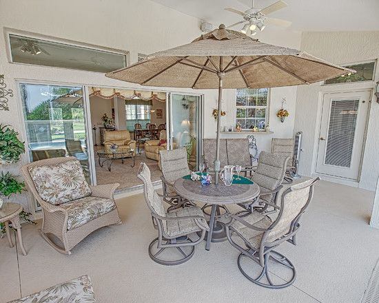 Fancy Home Design From Indoor And Outdoor: Incredible Harley Circle House  Patio Setting Featured By Umbrella And Traditional Outdoor Dining.