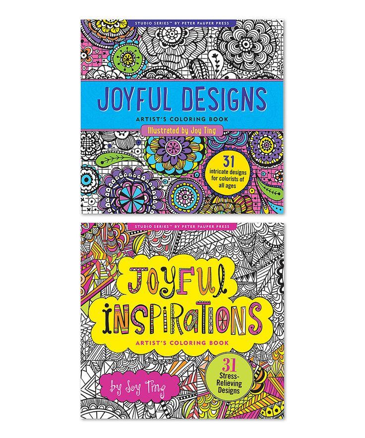 Two Piece Joyful Designs Inspirations Coloring Book