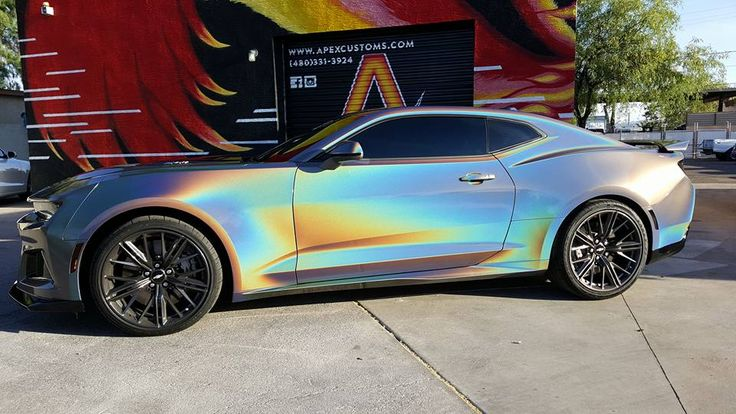 2017 Chevrolet Camaro zL1 1) Full Wrap using 3M Gloss Psychedelic Flip 2) Gloss Black Accents  3) Windows Tinted 20% All Around 4) Full Ceramic Pro Treatment Brand New Color & Car. Check out the shine and shift!