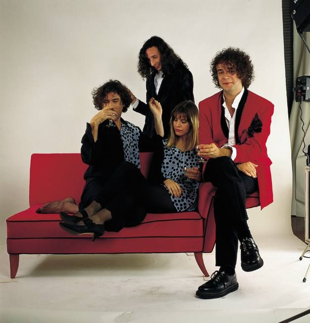 Charly García, Fito Paez - Página oficial, Fabiana Cantilo and Gustavo Cerati, the great Argentine rockstars. Buenos Aires. 1991.