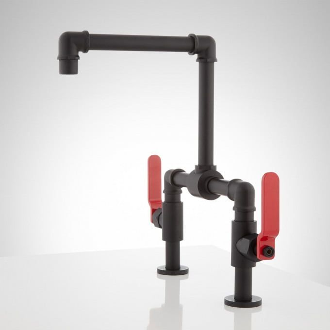 Edison Bridge Bathroom Faucet With Lever Handles Bathroom Sink