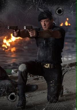 The Expendables 3 (2014) - Still of Stallone during Firefight in Uzmenistan building