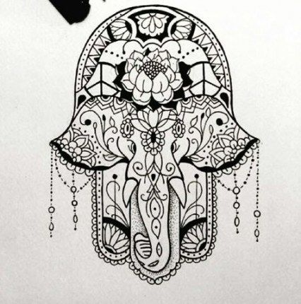 Tattoo Elephant Buddha Hamsa Hand 38+ Ideas