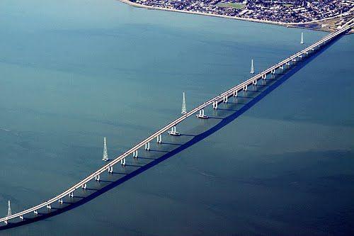 San Mateo-Hayward Bridge, California, US. Lived just a mile south of this bridge in San Mateo for 8 years.