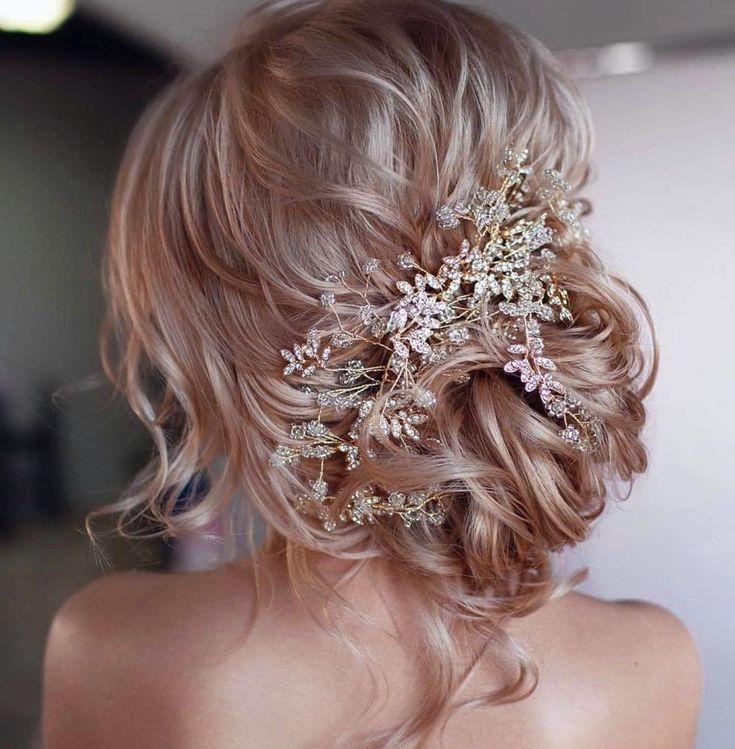 50 Hochzeitsfrisuren Sie werden es lieben, langes Haar, kurzes Haar, lockiges Haar, natürliche …   – Hair Styles