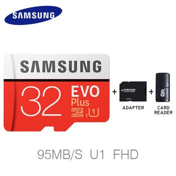 Samsung Memory Card 32GB 64GB 128GB New EVO PLUS Micro sd card Class10 UHS-1 Read Speed 100M/S Microsd for Tablet Smartphone  Price: 29.23 USD