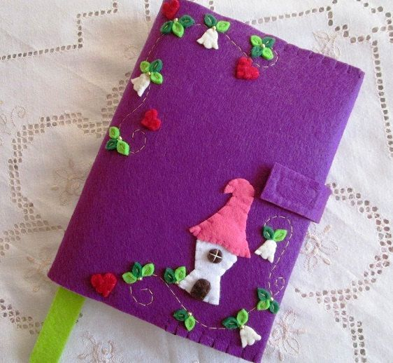 Handmade Felt Book Cover : Best images about book cover felt creations on