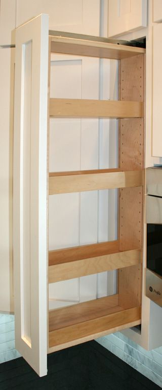 Best 25 pull out pantry ideas on pinterest pull out for Kitchen cabinets 6 inch