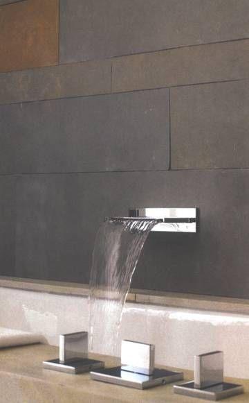 love waterfall faucets | home | Pinterest | Bathroom, Faucet and Bathroom faucets
