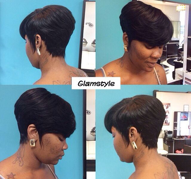 Weave Black Feathered Sidebangs Short Hairstylesshort Wavy Hairstyles