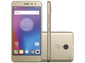 """Smartphone Lenovo Vibe K6 32GB Dourado Dual Chip - 4G Câm. 13MP + Selfie 8MP Tela 5"""" Proc. Octa Core"""