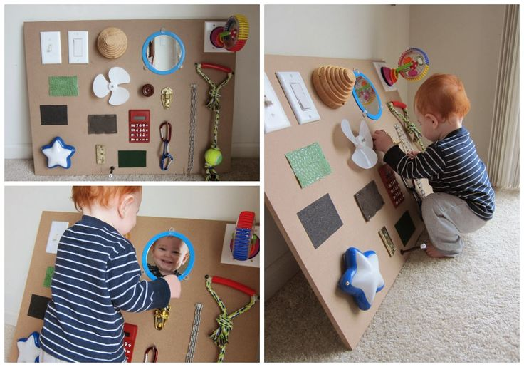 Faith, Family, and DIY: DIY Sensory Board for Baby