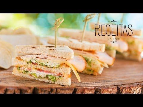Club Sandwich - Receitas Zaffari - YouTube