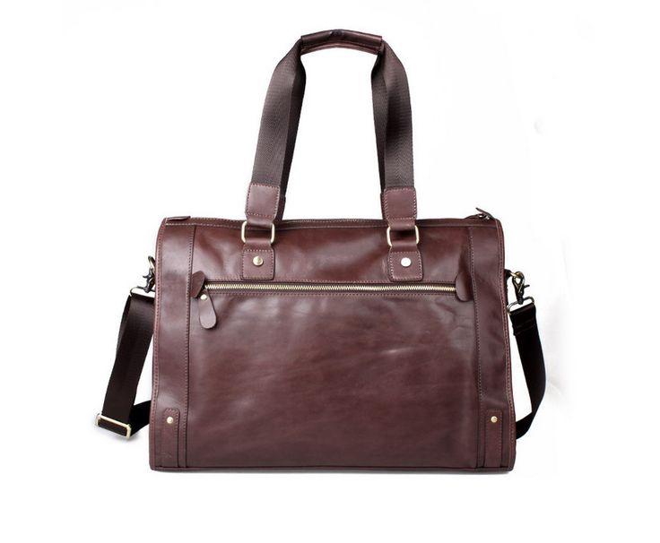 vintage handmade antique leather travel bag / tote /travelling bag/ overnight bag