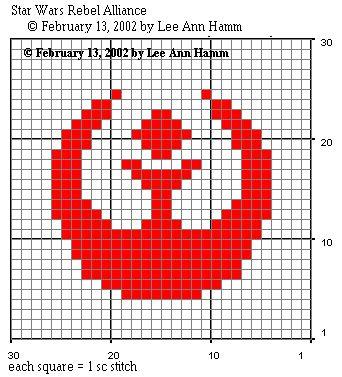 Crochet Star Wars Rebel Alliance Square - Free Pattern