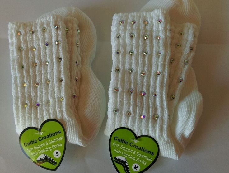 Irish dancing diamanté arch supports socks