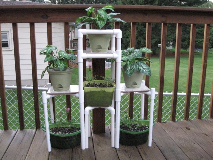 PVC plant stand