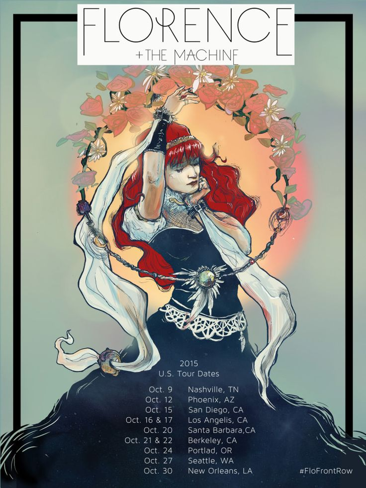 Florence + The Machine 2015 US Tour Poster