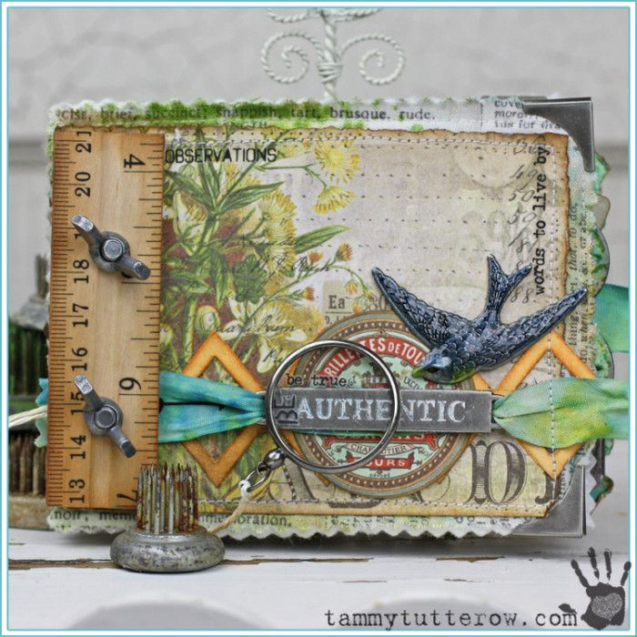You've got to check out all of the gorgeous details on Tammy's fabric ruler book! Tammy Tutterow | Be Authentic Fabric Ruler Book