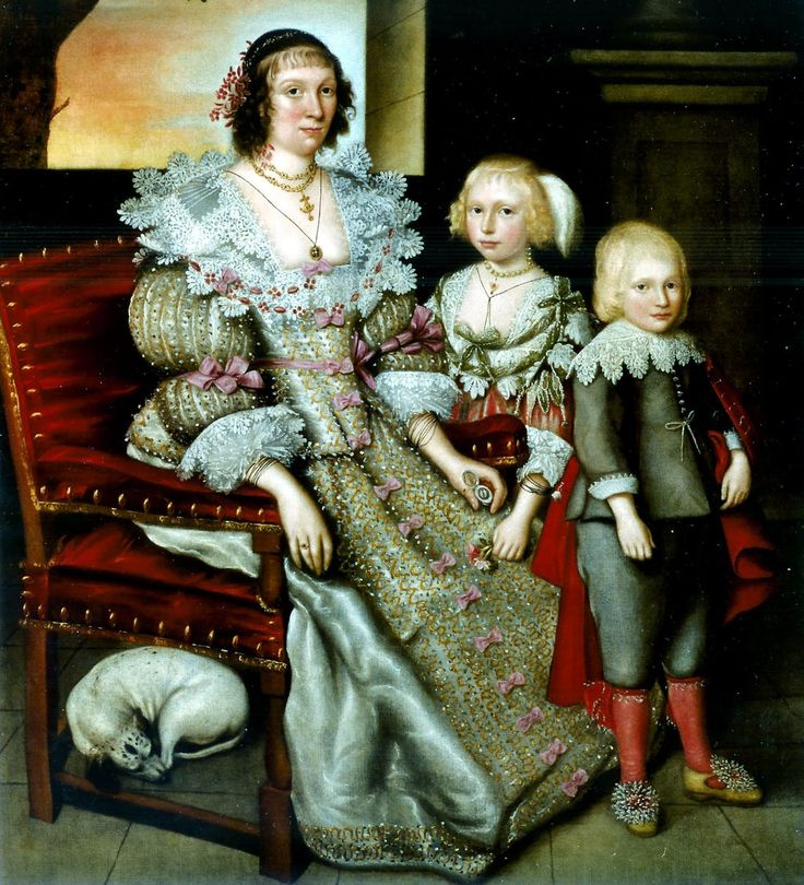 Marcus Gheeraerts (attr) c.1561-1635. Frances Earle, her eldest daughter, and her son John, c. 1631-33.