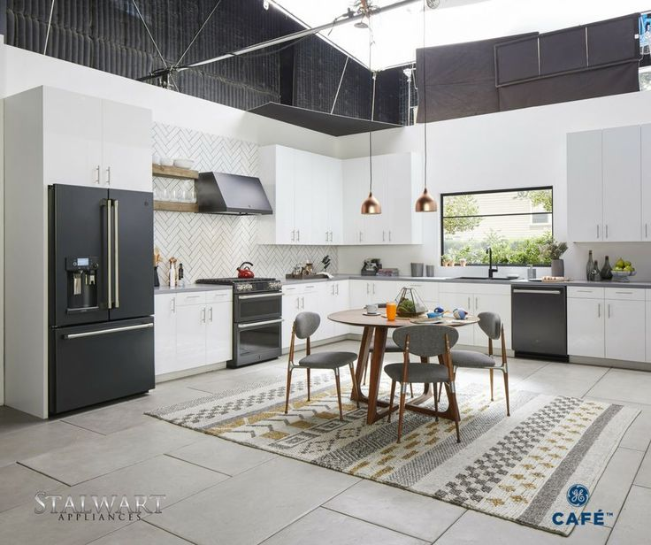 Take your kitchen to the next generation of style with black stainless steel #appliances!  Save up to 25% on the purchase of select #gecafe  appliances Now!