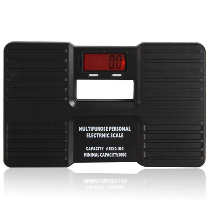 Superwinger Black Multipurpose Mini Digital Portable Body Health Weight Measuring Electronic Scale with LCD Display * Read more at the image link.