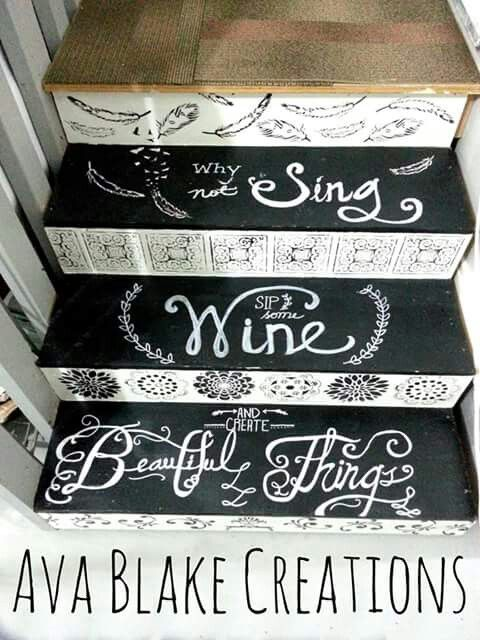 Painted stairs! Ava Blake Creations