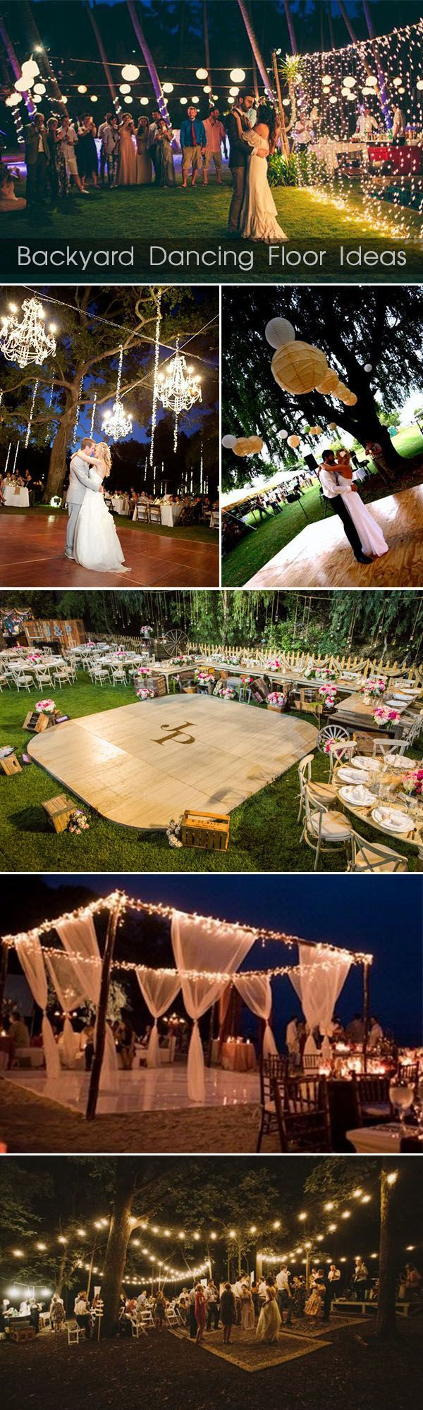 If Vonabell would let us have a tiny wedding in her back yard... dancing floor ideas for backyard weddings