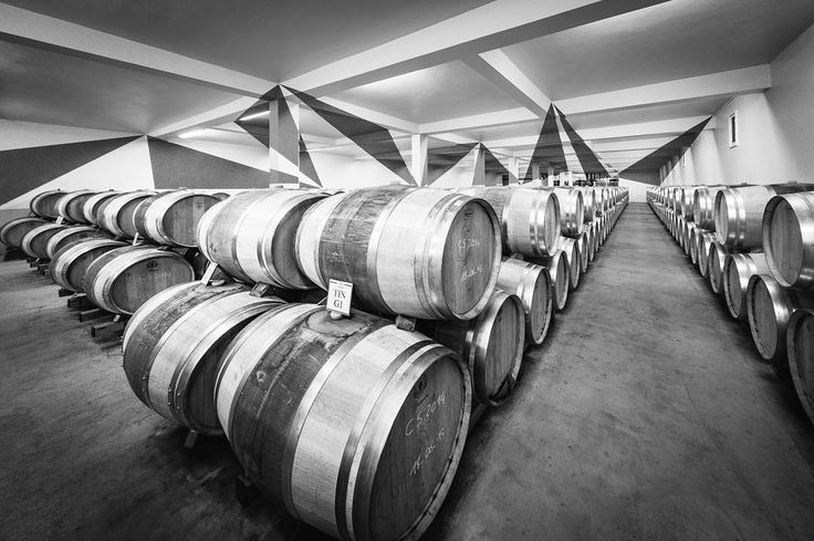 Chateau Chasse Spleen 3 in black and white  by Rick McEvoy interior photographer. This is the original edit of the picture of the splendid vineyard in Bordeaux with the art everywhere you look including the 9 red triangles only visible from this exact location. #architecturalphotographer #buildingphotographer #commercialphotographer #constructionphotographer #constructionproductphotographer #freelancephotographer #industrialphotographer #interiorphotographer #landscapephotographer…