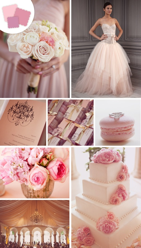 Classic Color Idea: Blush pink  Perfect Pairings: White, charcoal, khaki, gold, brown, eggplant, black  Timeless Tip: Play up this romantic hue with textured, monochromatic flower arrangements and bouquets for a feminine look that's not too girly.