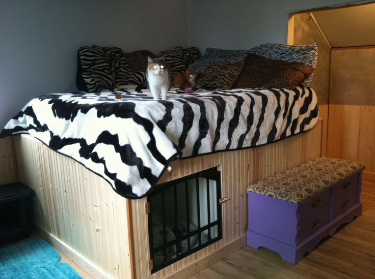 My Husband And I Built This Bed W Built In Dog Kennel