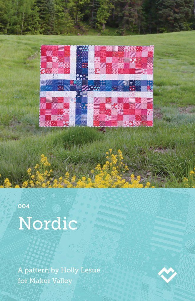 Nordic - Norway Flag Quilt Pattern - Downloadable PDF